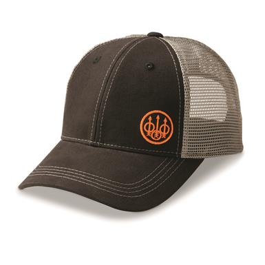 Beretta Men's Trident Trucker Hat, Black/gray
