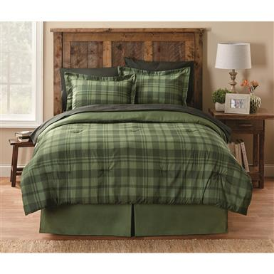 CASTLECREEK Plaid Comforter Set, Green