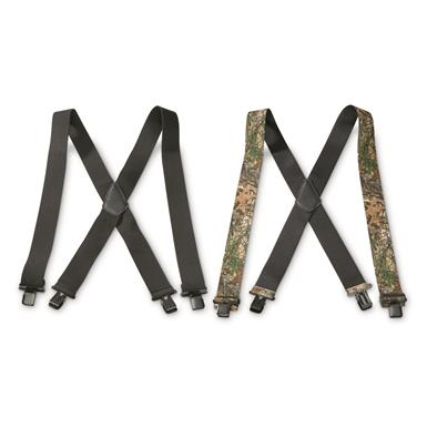 The Suspender Factory Clip-on Suspenders, 2 Pack, Black/Realtree Xtra®