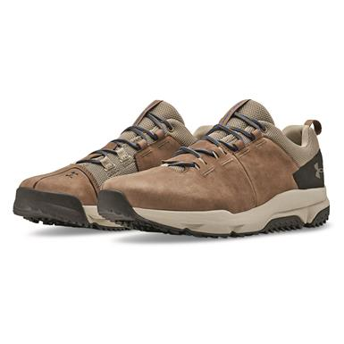Under Armour Men's Culver Low Waterproof Hiking Shoes, Track Brown/Barley/Surface Gray