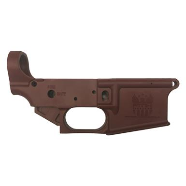 FMK Firearms AR1 eXtreme Multi-Caliber AR-15 Stripped Polymer Lower Receiver, Brick Red
