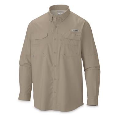 Columbia Men's PFG Blood And Guts III Long Sleeve Woven Shirt, Fossil
