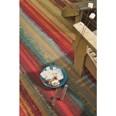 100% nylon Rug is stain- and fade-resistant, Multi