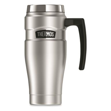 Thermos® Stainless King™ Travel Mug, 16 oz., Stainless Steel