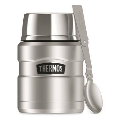 Thermos® Stainless King™ Food Jar, 16 oz., Stainless Steel