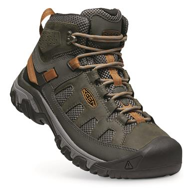 KEEN Men's Targhee Vent Mid Hiking Boots, Raven/bronze Brown