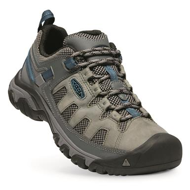 KEEN Men's Targhee Vent Low HIking Shoes, Basalt/Legion Blue