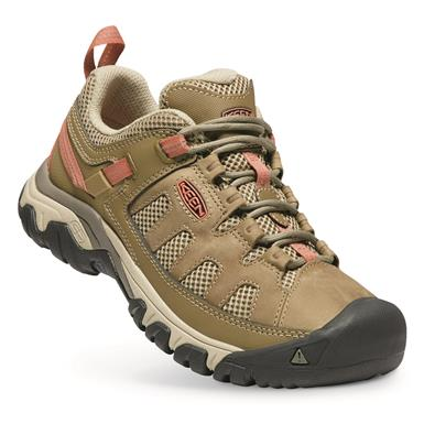 KEEN Women's Targhee Vent Low HIking Shoes, Sandy/cornstalk