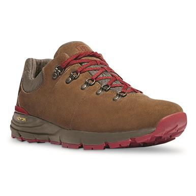 Danner Men's Mountain 600 Low Waterproof Hiking Shoes, Suede, Brown/red
