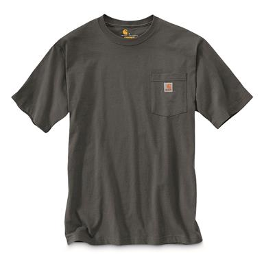 Carhartt Men's Workwear Short Sleeve Pocket Shirt, Charcoal
