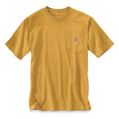 Carhartt Men's Workwear Short Sleeve Pocket Shirt, Gold Heather