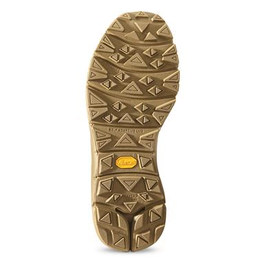 Vibram® Fuga outsoles with MegaGrip compound and self-adaptive lugs deliver superior traction on a wide range of wet and dry surfaces, Coyote