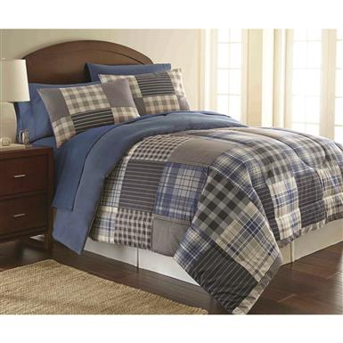 Shavel Comforter Mini Set, Smokey Mt. Plaid