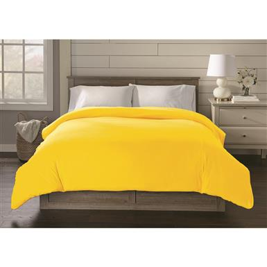Shavel Jersey Knit Duvet Cover, Sunshine Yellow