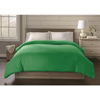 Shavel Jersey Knit Duvet Cover, Kelly Green