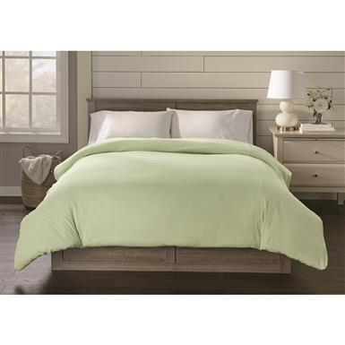 Shavel Jersey Knit Duvet Cover, Cameo Green