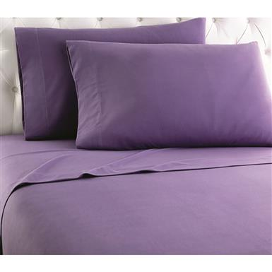Shavel Micro Flannel Sheet Set, Plum