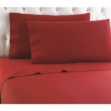 Shavel Micro Flannel Sheet Set, Brick