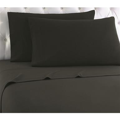Shavel Micro Flannel Sheet Set, Charcoal