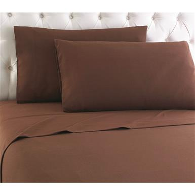 Shavel Micro Flannel Sheet Set, Chocolate