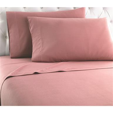 Shavel Micro Flannel Sheet Set, Frosted Rose