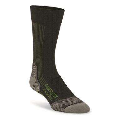 Farm To Feet Men's Damascus Lightweight Technical Crew Socks, Black