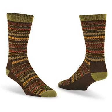 Farm To Feet Women's Charleston Ultralight Crew Socks, Turkish Coffee