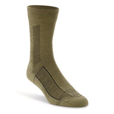 Farm To Feet Men's Greensboro Lightweight Sport 3/4 Crew Socks, Mosstone