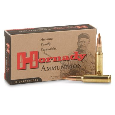 Hornady Rifle, .308 Win., BTHP Match, 168 Grain, 20 Rounds