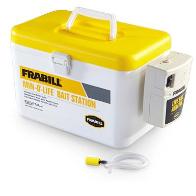 Frabill 8-qt. Min-O-Life Bait Station Cooler, Yellow / White