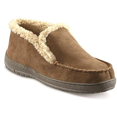Guide Gear Mens 10 Suede Boot Slippers