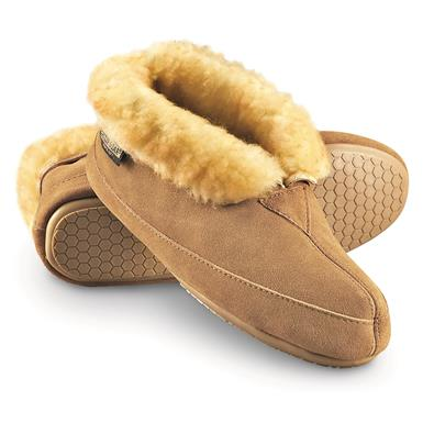 Guide Gear Women's Wool Roll Bootie Slippers, Cinnamon
