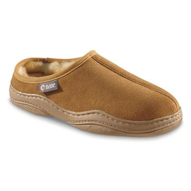 Guide Gear Men's Suede Clog Slippers, Cinnamon