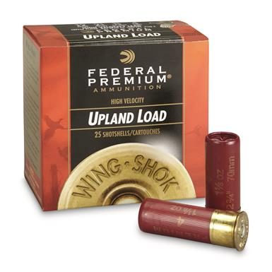 "Federal, Premium High Velocity, 12 Gauge, 2 3/4"" 1 1/8 oz. Shotshell, 25 Rounds"