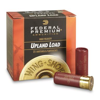 "Federal, Premium High Velocity, 12 Gauge, 2 3/4"" 1 3/8 oz. Shotshells, 25 Rounds"