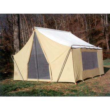 Trek Tents Canvas Cabin Tent without optional Rainfly  sc 1 st  Sportsmanu0027s Guide & Trek Tents 10 x 14u0027 Canvas Cabin Tent Khaki - 93359 Backpacking ...
