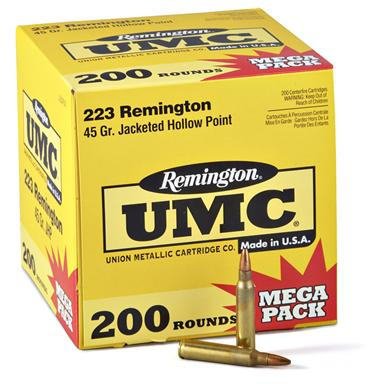 200 rounds 45-grain Hollow-point Remington .223 Ammo