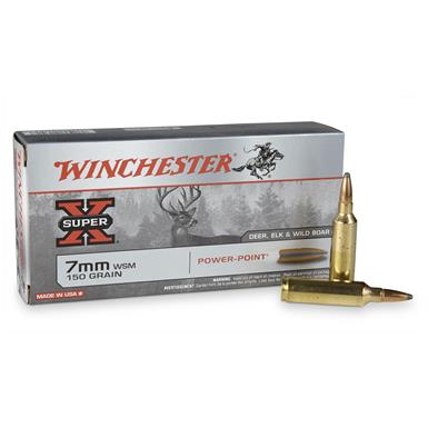 Winchester Super-X Rifle 7mm WSM, PP, 150 Grain, 20 Rounds
