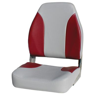 Wise Premium Folding Fishing Boat Seat, Grey / Red • State-of-the-art high-impact plastic frame