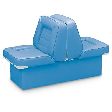 Wise Deluxe Boat Full Reclining Lounge Seat, Light Blue
