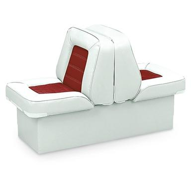 Wise Deluxe Boat Full Reclining Lounge Seat, White/Red