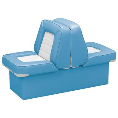 Wise Deluxe Boat Full Reclining Lounge Seat, Light Blue / White