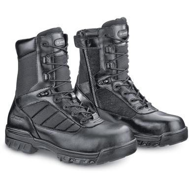 "Bates Men's 8"" Tactical Side-Zip Boots, Black"