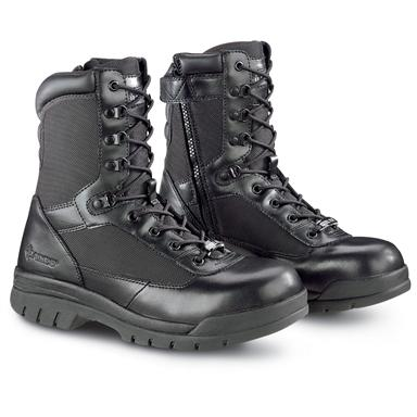 "Bates Men's Enforcer 8"" Insulated Side-Zip Steel Toe Duty Boots, 200 Gram, Black"
