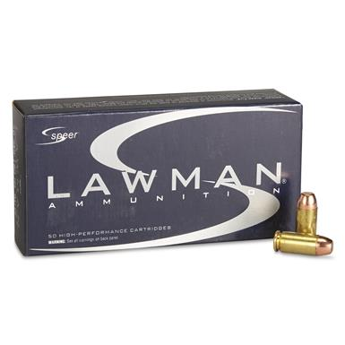 Speer Lawman Clean-Fire, .40 S&W, TMJ, 180 Grain, 50 Rounds