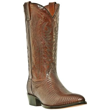 "Men's Dan Post 13"" Genuine Teju Lizard J-Toe Boot, Antique Tan"