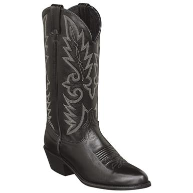 Men's Dan Post® 13 inch Mignon Leather J-Toe Cowboy Boot, Black