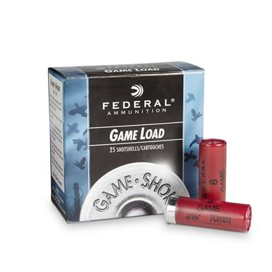 "Federal Game Load 12 Gauge 2 3/4"" 1 oz. Shotshells 25 rounds"
