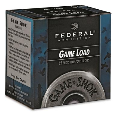 "Federal Game Load, 20 Gauge, 2 3/4"", 7/8 oz. Shotshells, 25 Rounds"