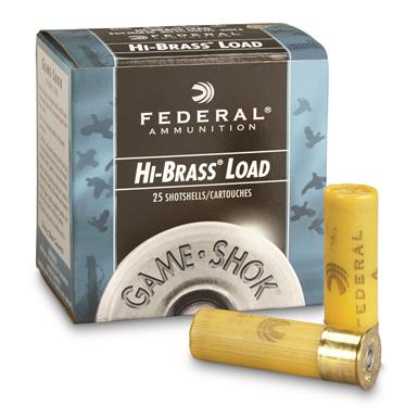 "Federal Classic, Hi-Brass, 20 Gauge, 2 3/4"" 1 oz. Shotshells, 25 Rounds"